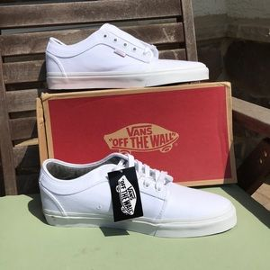 White on white Chukka Low Vans